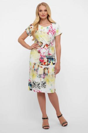 Платье «Белла» с принтом-акварель