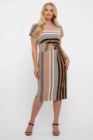 Сукня «Белла» в бежеву смужку