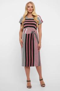 Сукня «Белла» в пудрову смужку
