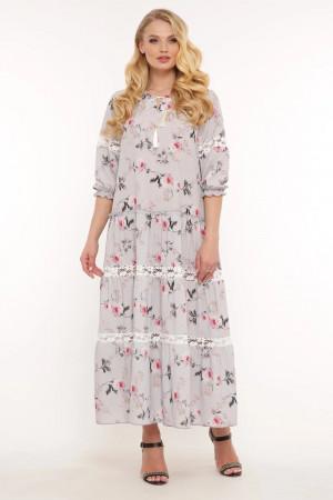 Платье «Анна» серо-небесного цвета