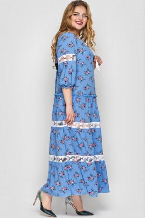 Платье «Анна» василькового цвета