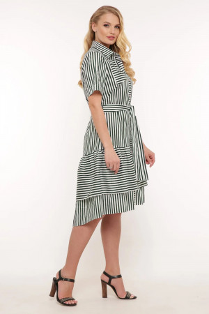 Платье «Кэт» в зеленую полоску