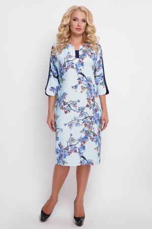 Платье «Милена» с цветочным принтом