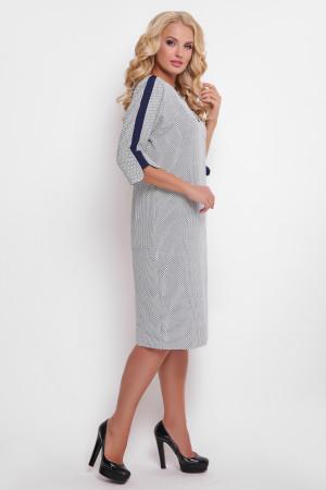 Платье «Милена» с синим принтом