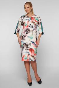 Платье «Милена» с абстрактным принтом