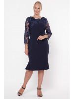 Платье «Аннэт» синего цвета