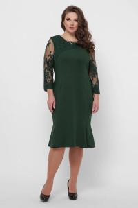 Платье «Аннэт» изумрудного цвета