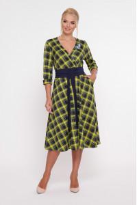 Сукня «Луїза» з гірчичним принтом