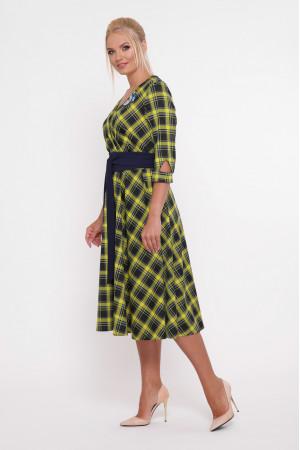 Платье «Луиза» с горчичным принтом