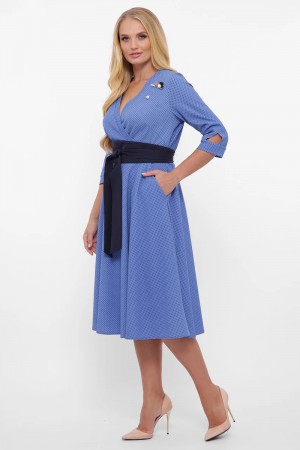 Платье «Луиза» василькового цвета