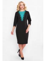 Сукня «Софі» чорного кольору з бірюзою