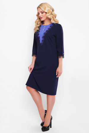 Сукня «Софі» темно-синього кольору з волошковим