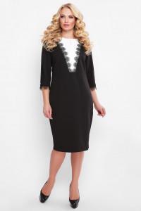 Платье «Софи» черного цвета с белым