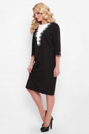 Сукня «Софі» чорного кольору з білим