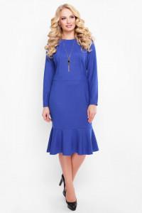 Платье «Роми» сапфирового цвета