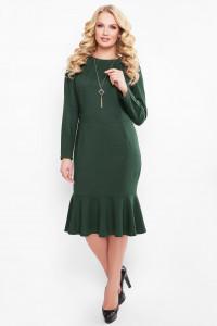 Платье «Роми» изумрудного цвета