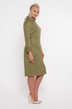 Платье «Марша» оливкового цвета