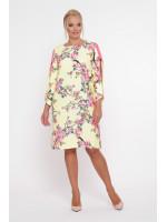 Сукня «Ненсі» жовтого кольору з рожевою смужкою