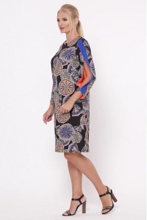 Платье «Нэнси» с абстрактным принтом