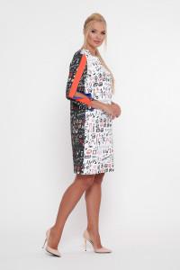 Платье «Нэнси» черно-белого цвета