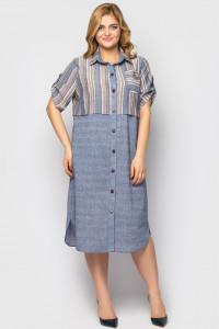 Сукня-сорочка «Лана» кольору пудри