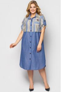 Сукня-сорочка «Лана» кольору денім
