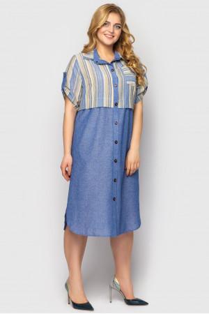 Платье-рубашка «Лана» цвета деним