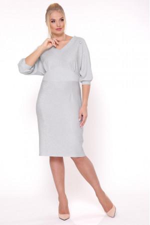 Платье «Афина» серебристого цвета