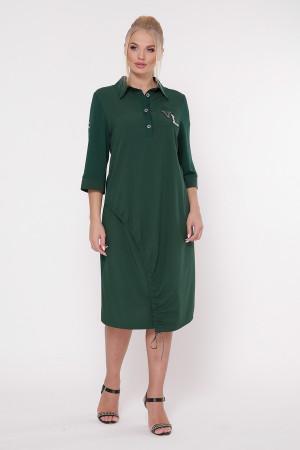Платье «Гайя» темно-зеленого цвета