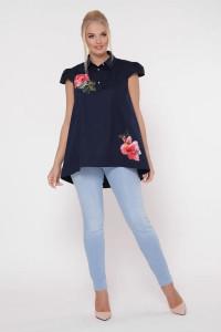 Блуза «Розмари» синего цвета
