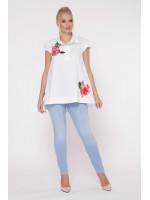 Блуза «Розмари» белого цвета