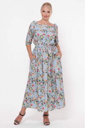 Платье «Снежанна» небесно-голубого цвета
