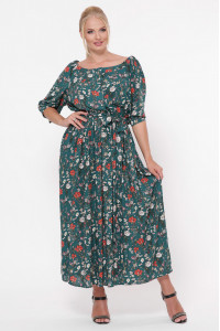 Сукня «Сніжана» смарагдового кольору