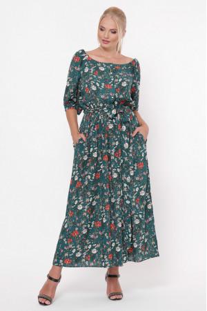 Платье «Снежанна» изумрудного цвета