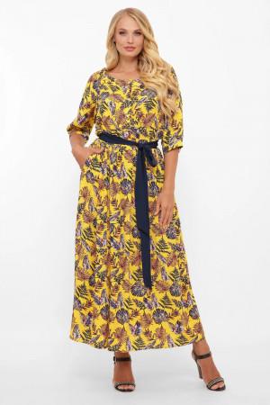 Платье «Снежанна» цвета горчицы