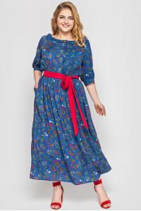 Сукня «Сніжана» кольору денім