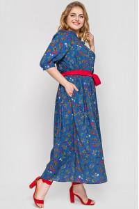Платье «Снежанна» цвета деним