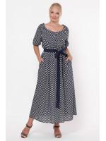 Платье «Снежанна» с горошинками