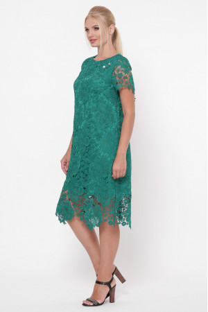 Платье «Элен» изумрудного цвета