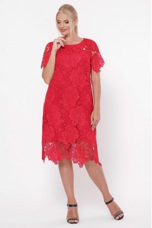 Платье «Элен» красного цвета