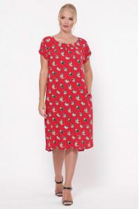 Сукня «Палітра» червоного кольору