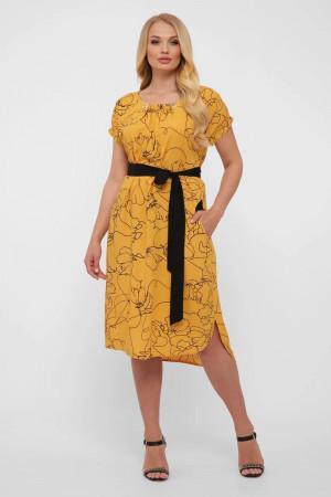 Сукня «Палітра» гірчичного кольору