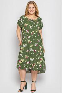 Платье «Палитра» оливкового цвета