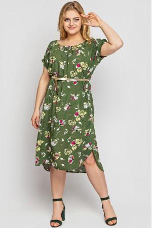 Сукня «Палітра» оливкового кольору