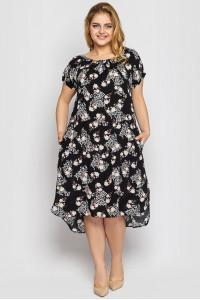 Платье «Палитра» черного цвета
