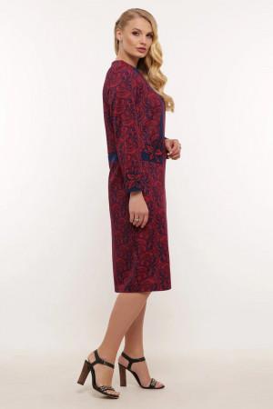 Сукня «Донна» бордового кольору з завитками
