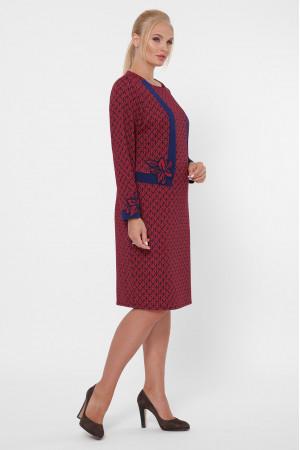 Платье «Донна» бордового цвета со звездами