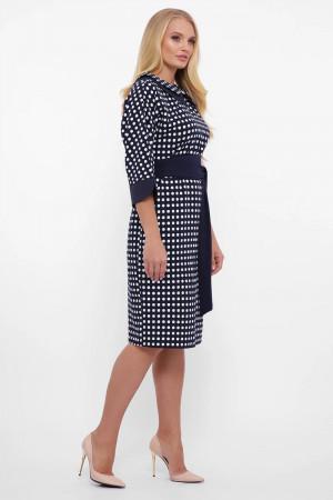 Платье «Натали» синего цвета с принтом-горох
