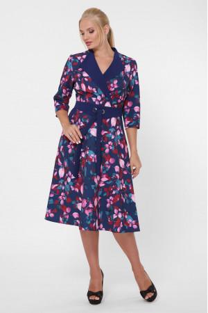 Сукня «Хлоя» синього кольору з квітами