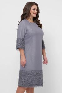 Платье «Тереза» серебристого цвета
